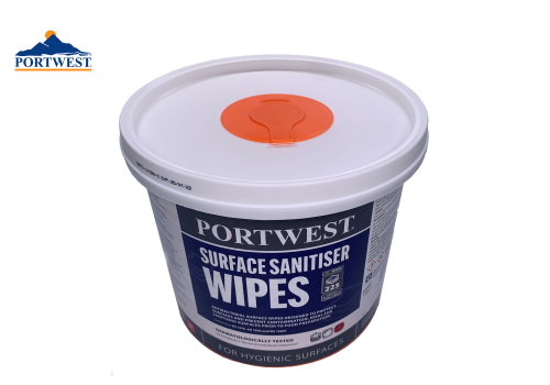 Surface Sanitiser Wipes Portwest WIW50WHR